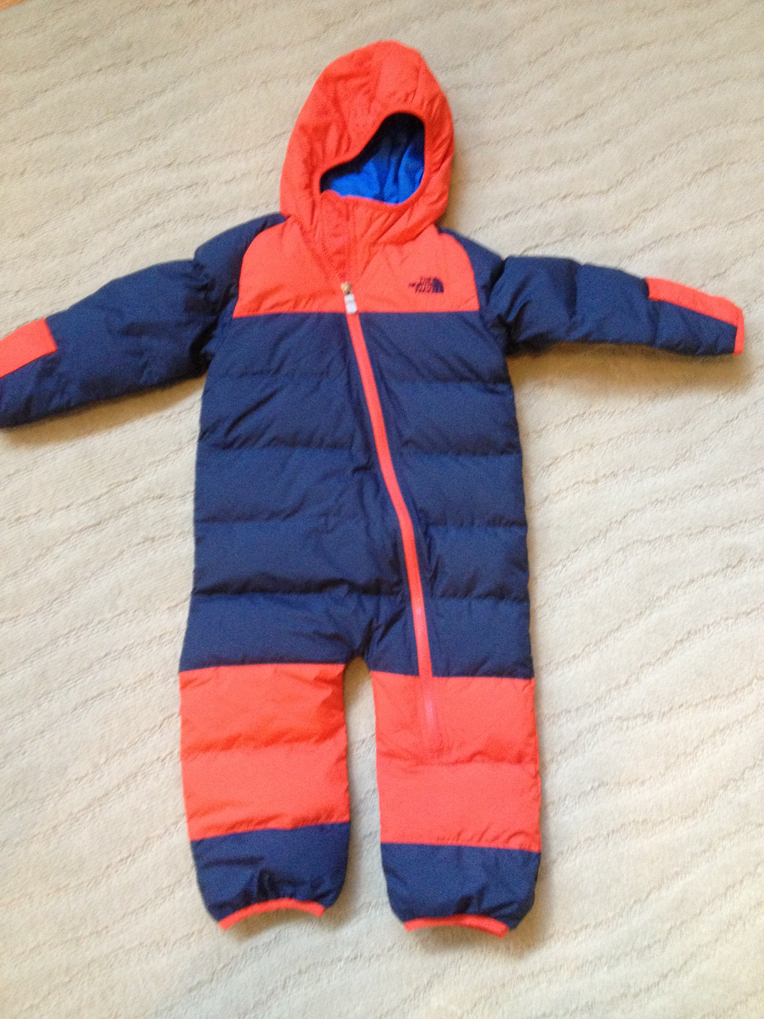 58fcb28284be THE NORTH FACE INFANT LIL  SNUGGLER DOWN SUIT