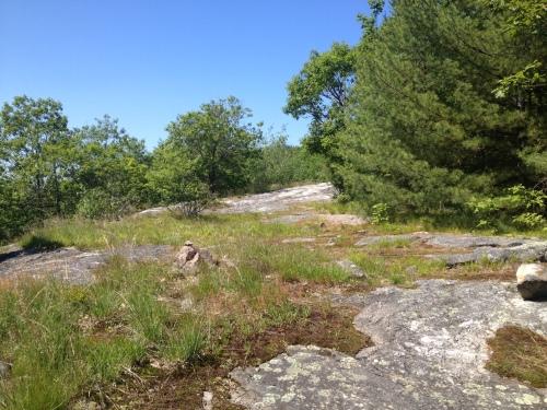 Open slabs near Bald Ledge