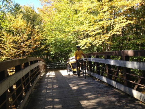 First bridge crossing the Pemigewasset River
