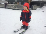 Alex's first moments on skis!
