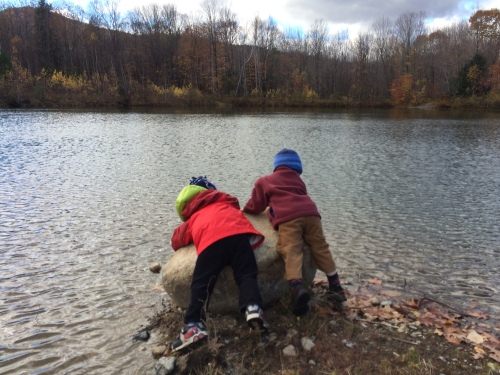 Skipping rocks and exploring